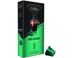Cellini Delizioso Espresso Caffe Long 10 Capsules / Compatible with all Nespresso machines (Italy)