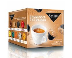 Cellini Espresso Extra Bar 10 Capsules – compatible with Nescafè® Dolce Gusto machines (Italy)