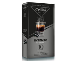 Cellini Intenso Espresso Intensity 10 Capsules Compatible with all Nespresso machines (Italy)