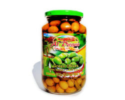 AL DAYAA GREEN OLIVES 1000GM