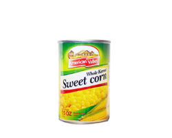 AMERICAN VALLEY WHOLE KERNEL SWEET CORN 400g/CAN