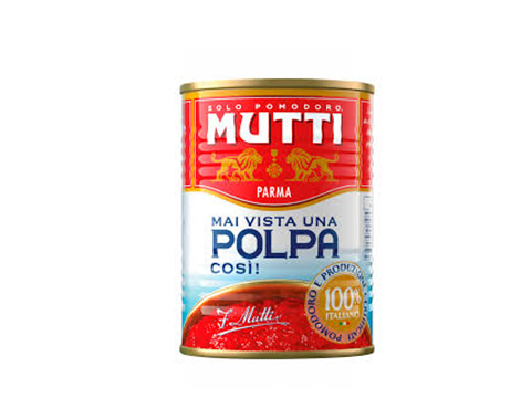 MUTTI POLPA FINELY CHOPPED TOMATOES 400gCAN