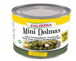PALIRRIA MINI STUFFED VINE LEAVES WITH RICE 120PCS/2100GM