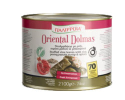 PALIRRIA STUFFED VINE LEAVES WITH RICE,POMEGRANATE SYRUP AND SPICES 2100GM