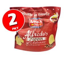 AMICA CHIPS ALFREDO'S PEPPER 135G X 2